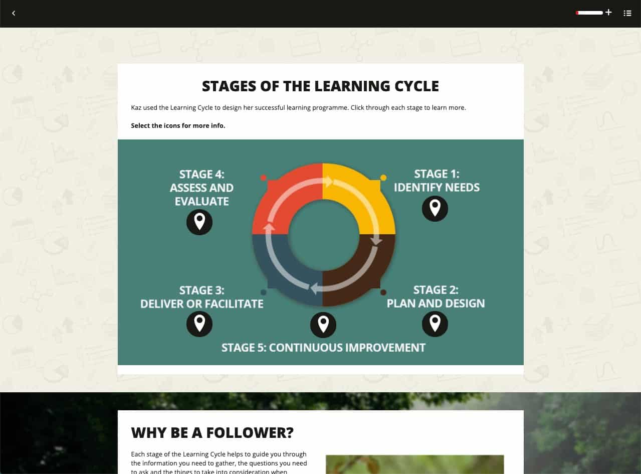 Stages of the learning cycle